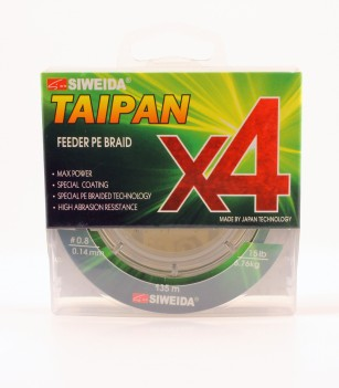 Шнур плетен. SIWEIDA Taipan Feeder Braid X4 135м 0.12мм 4.50кг Dark Green