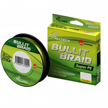 Шнур плетен. ALLVEGA Bullit Braid 135m 0.14mm 8.4kg Green
