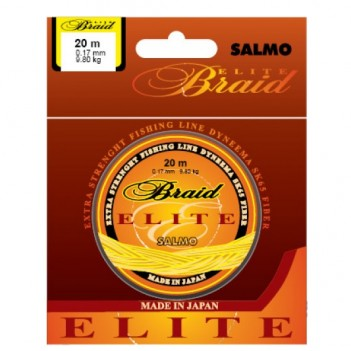 Шнур плетен. SALMO Braid ELITE 20m 0.11mm 4.35kg