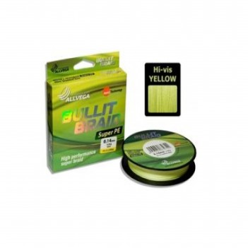 Шнур плетен. ALLVEGA Bullit Braid 92m 0.24mm 16.5kg Hi-vis Yellow